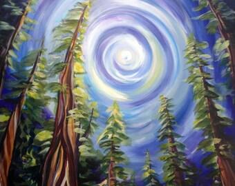Ancient Forest, West Coast Landscape Painting - Photo Print