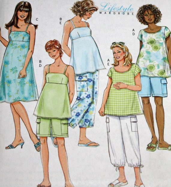 Uncut Butterick B4527 Misses Maternity Sewing Etsy