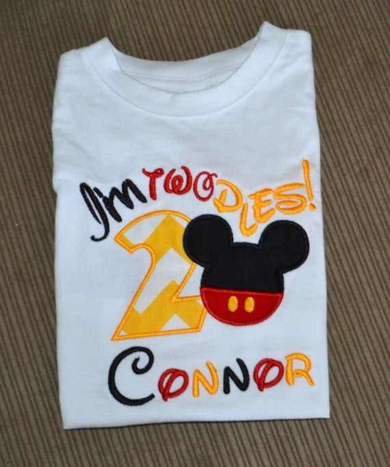 Im Twodles Mickey Mouse Boys Birthday Shirt Disney Personalized