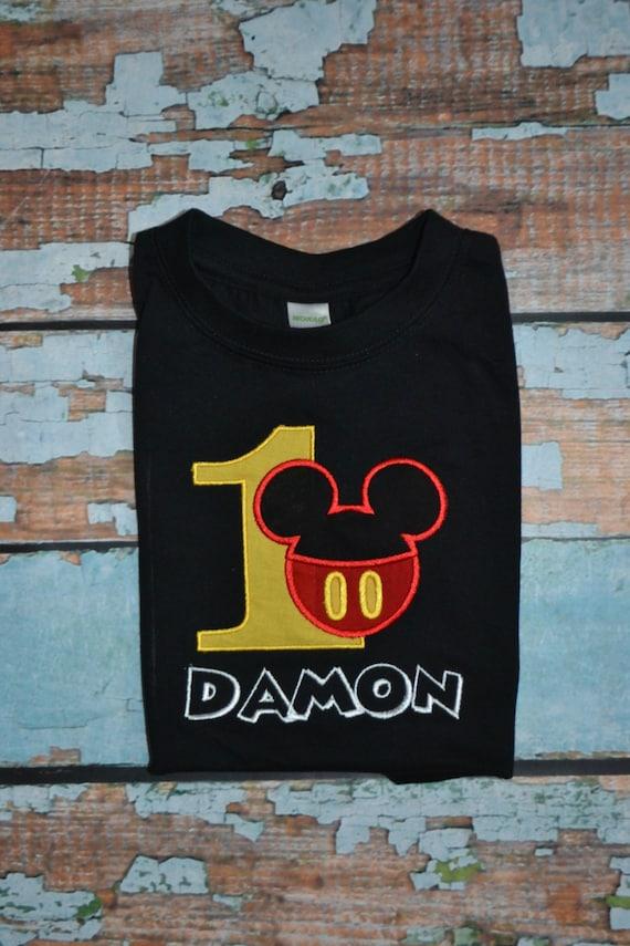 Mickey Mouse Birthday Shirt Boys