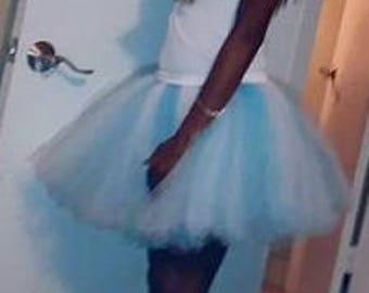 """Tutu 15"""" longueur de la jupe ou personnaliser votre longueur et la taille, la mariée tutu, la bachelorette tutu, au dessus du genou, tutu d'anniversaire, tutu de marathon,"""