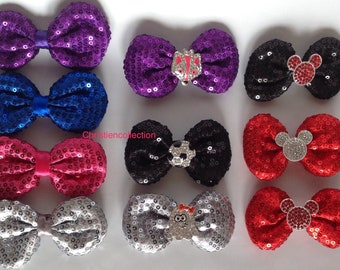 Sequin Bow-Tie Bows,Hair Clips,Bow Clip,Headband Hair Clip,Puffy Sequin Bows,Birthday HairBow,Hair accessories,Girl Hairbow,Party Hairbow