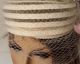 Hat 1920's  Hat Bridal Tea Party Classy and Hollywood Hats made Antique with a Bow  in the Top simply Original Beauty