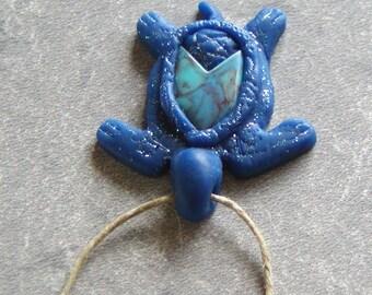 Blue Turtle Pendant
