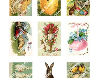 Assorted Vintage Victorian Easter Edible Wafer Paper Sheet, 9 images