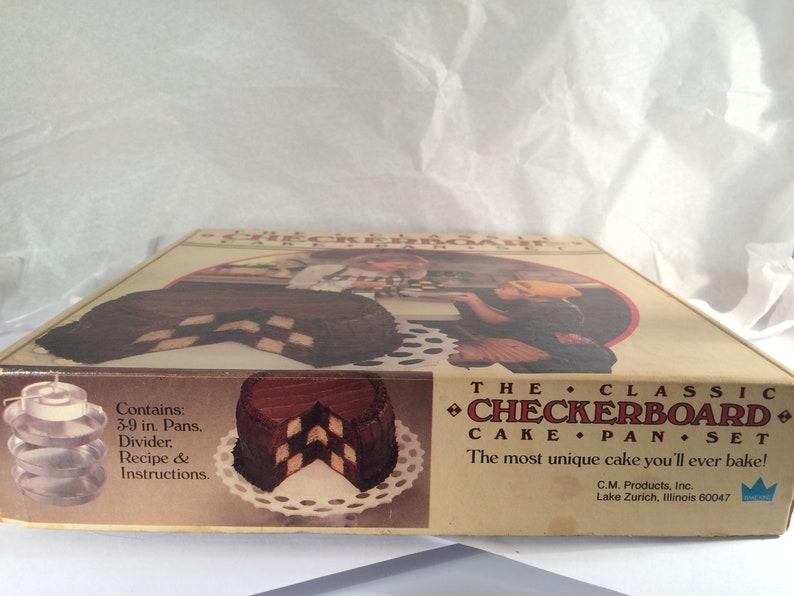 Cake Pans Set Chicago Metallic The Classic Checkerboard Pan Set Original Box Bakeware Vintage Cookware