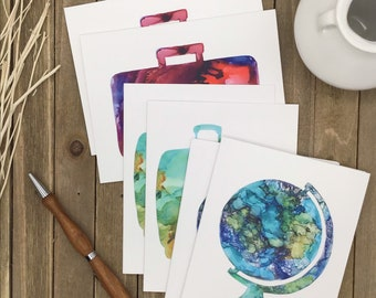 Travel Note Cards Patterns