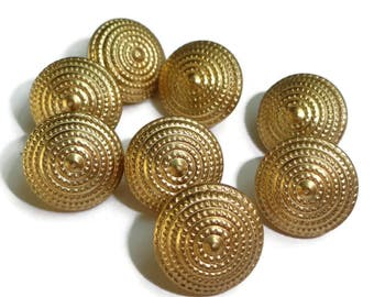 25 Gold Metal Vintage Buttons 3/8 inch for Baby Doll Clothes Jewelry Beads Sewing Knitting