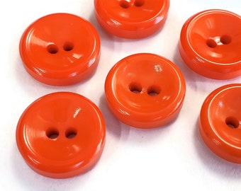 21mm Jason/' Laundwell Fish Eye Buttons Vintage Carded Button Set 6 Strips Moonglow Sheen Vintage Sewing 24 Tangerine Buttons