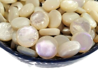 Nice Quality Vintage Mother of Pearl Shank Buttons for Sewing, Knitting, Jewelry Beads, Beach Wedding