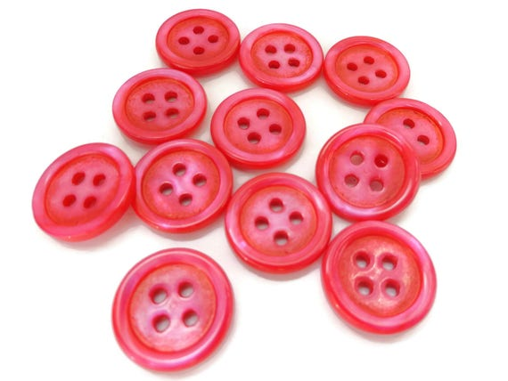 8 vintage style polkadot spotty buttons for sewing knitting craft size 28 18mm