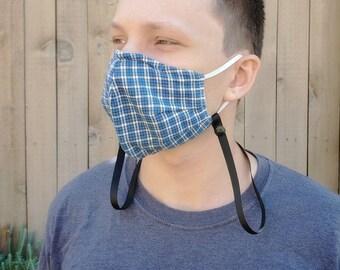 Face mask lanyard holder