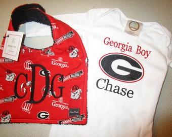 11604e94a Georgia bulldog baby | Etsy