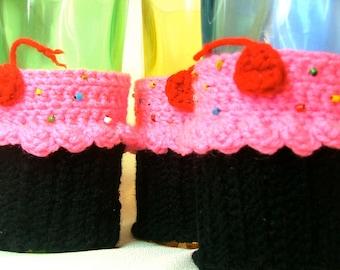 Crochet Cupcake Coffee Cup Cozy