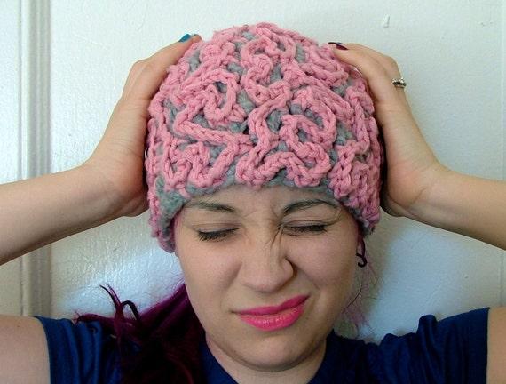 72a665bf5a7 Brain Hat Crochet Beanie