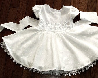 Christening wedding flower girl birthday dress baby girl