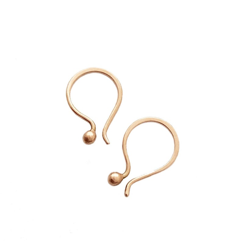 Rose Gold 14k Tiny Tear earrings image 0