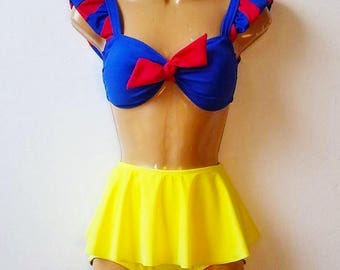 2caea42f9 Snow White Swim Suit // Disney Princess Snow White Bathing Suit // Snow  White Pin Up Girl Bikini