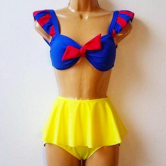 793a29b87e Snow White Swim Suit // Disney Princess Snow White Bathing | Etsy