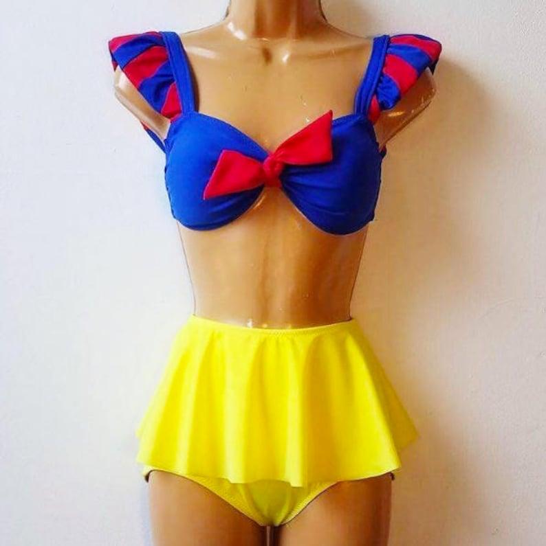 897b366a349ea Snow White Swim Suit // Disney Princess Snow White Bathing | Etsy