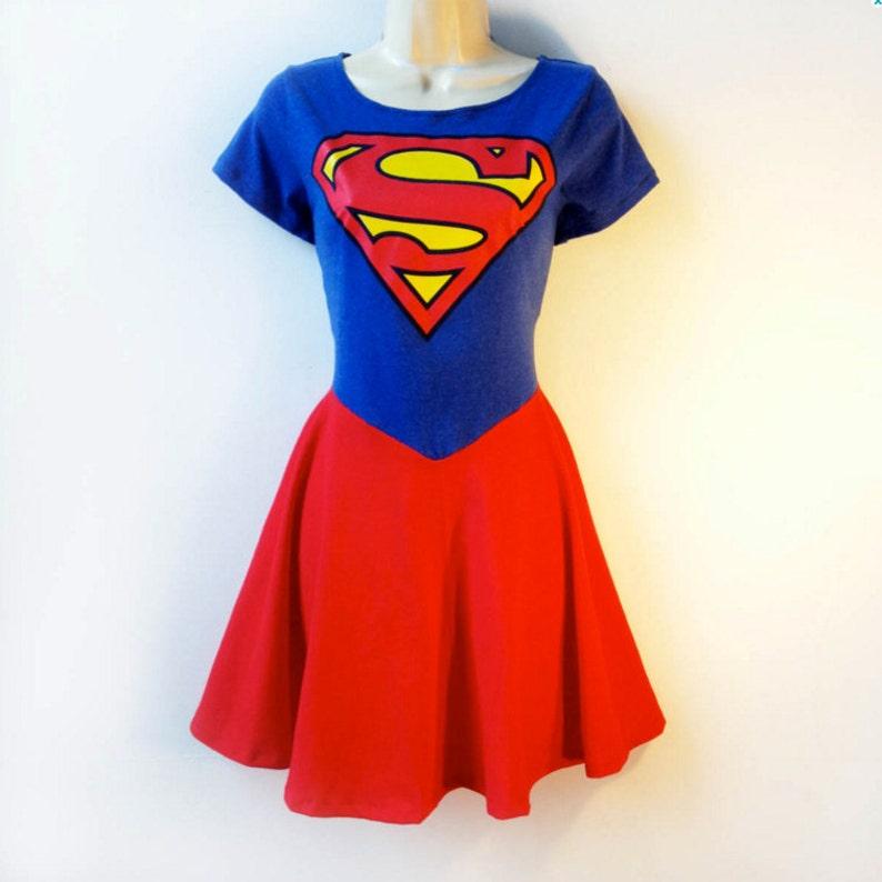 Supergirl Dress Plus Size // Supergirl Costume Rockabilly Pin | Etsy