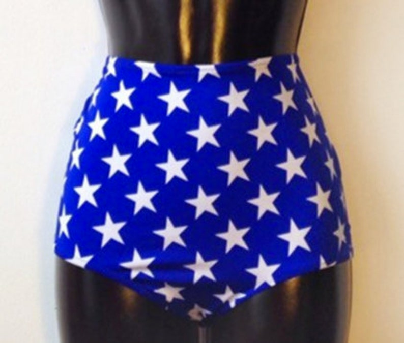 47e82b2d1 Wonder Woman Star Spangled High Waisted Swimsuit Bathing Suit | Etsy