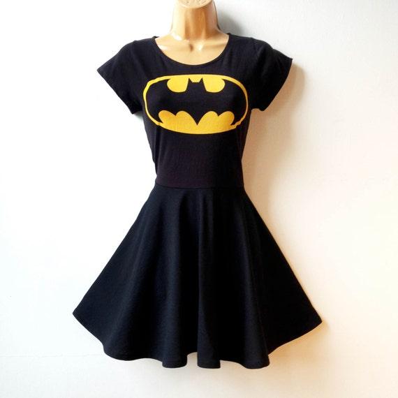 Batman Dress MADE TO ORDER Batgirl Superhero Cosplay Dress Rockabilly Pin Up Girl Dress Womens Superhero Halloween Costume