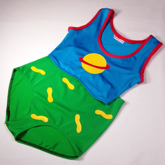 & Chuckie Finster Halloween Costume // RugRats Chuckie Swim Suit