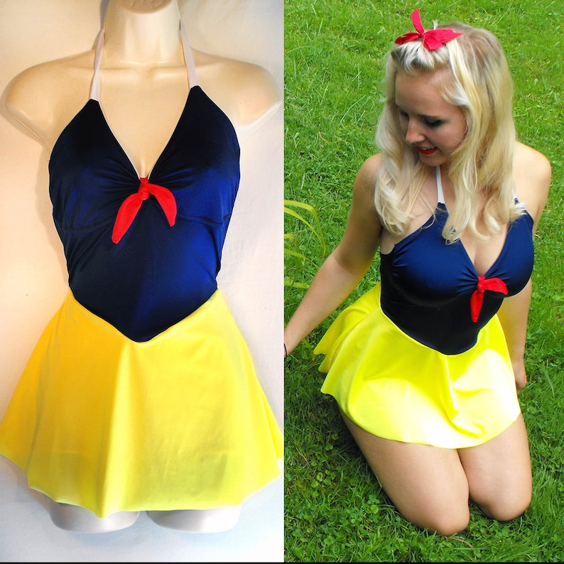 397e619d5c306 Snow White Bathing Suit // Snow White One Piece Swimsuit // | Etsy
