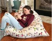 New Pattern - 39 Meringue 39 Bean Bag chair - PDF DIY Bean Bag Stuffed Animal Storage Chair - PDF - Reversible - Easy sewing Pattern