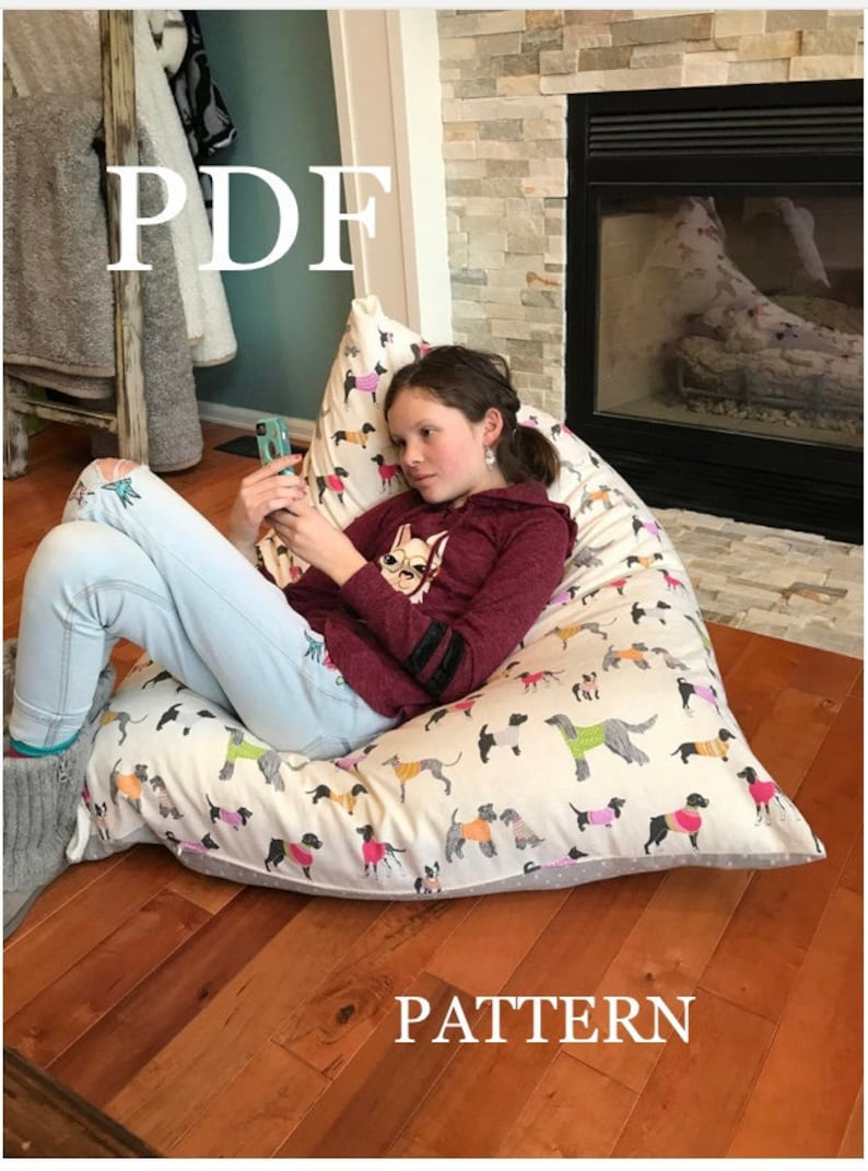 New Pattern  'Meringue' Bean Bag chair  PDF DIY Bean image 0