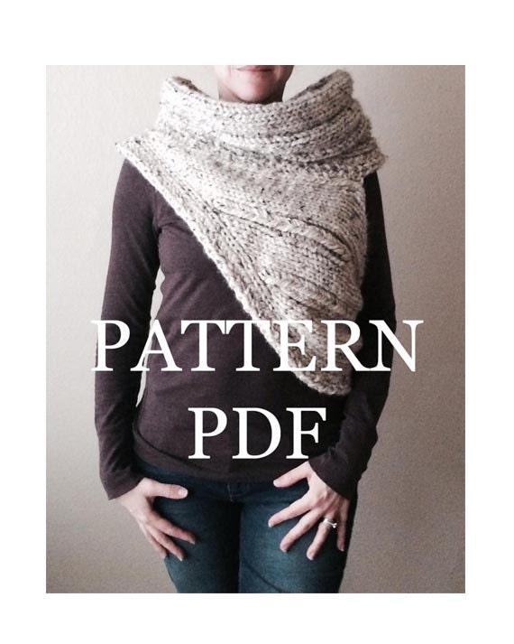 Katniss Cowl Pattern Pdf Knitting Pattern For Diy Chunky Etsy