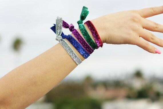 Glitter hair ties sparkly hair ties yoga hair ties sparkle  884ad01e38d
