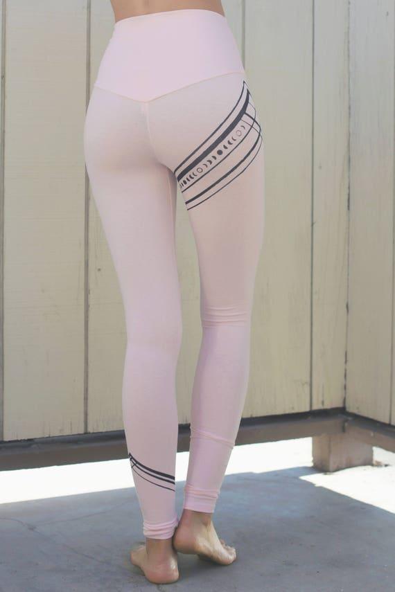 Pink Yoga Leggings Womens Yoga Leggings Womens Yoga Pants Etsy