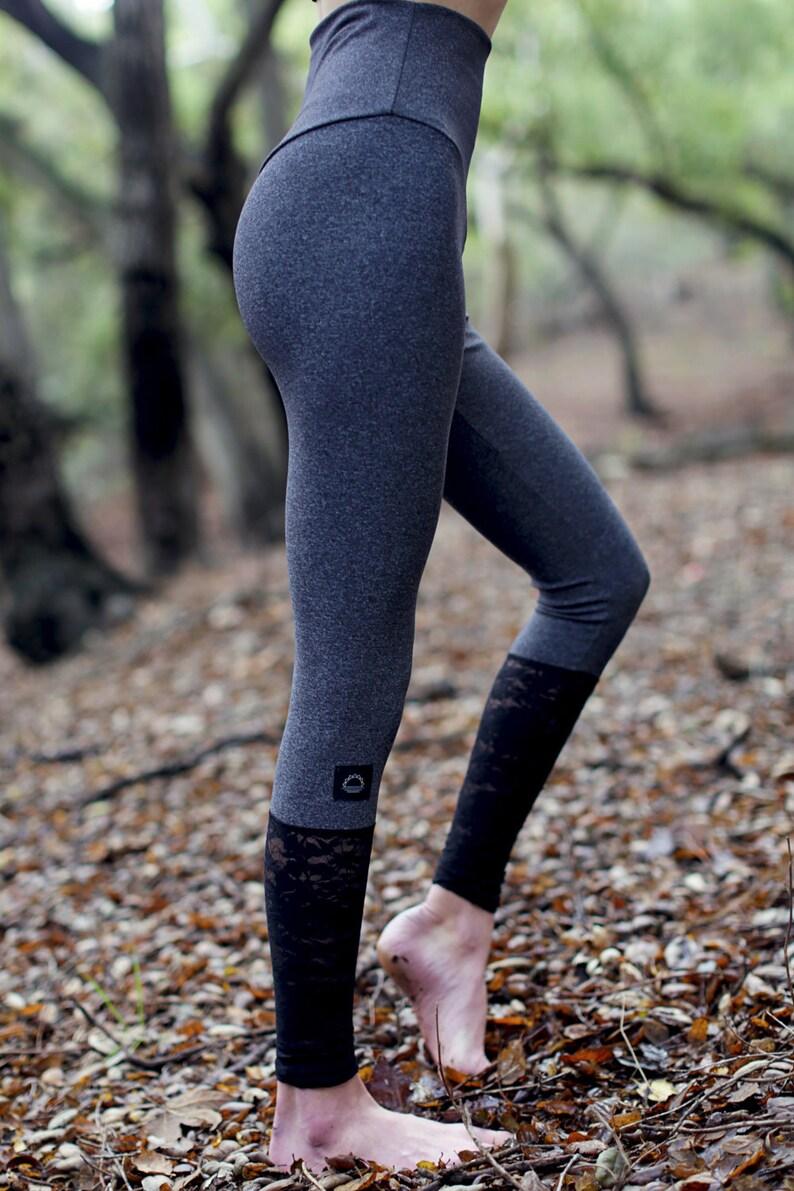 be2348491ef lace leggings, yoga pants women, yoga leggings women, black lace pants,  gray yoga leggings, high waist yoga pants, hippie pants, yoga leggin