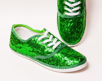 6968cc23892e Sequin - CVO Kelly Green Canvas Sneaker Tennis Shoes. princesspumps ...