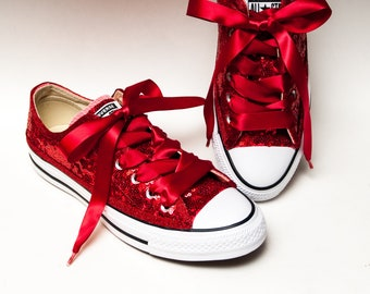 048c3b910272 Starlight Sequin Red Converse® Low Top Sneakers
