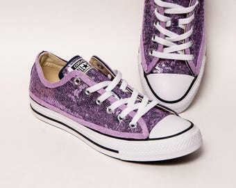 c6cedb5f85c2c0 Lavender Purple Starlight Sequin Low Top Converse Sneakers