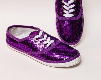 aca9bfd33c9d Purple Sequin Canvas Sneakers