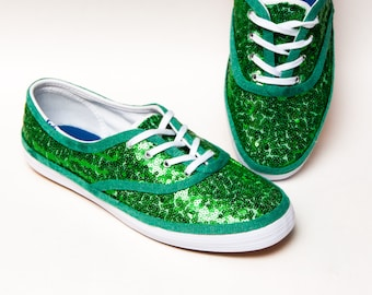 75583b848e7e Tiny Sequin - Starlight Bridal Kelly Green Keds Brand Sneaker Canvas Tennis  Shoes