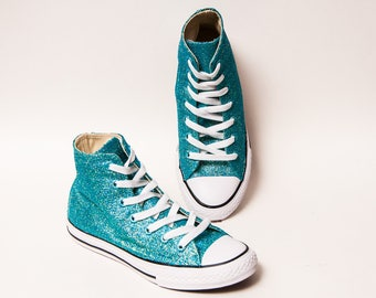 f52ae4deb01eed Youth Glitter Hawaii Blue Converse® High Tops