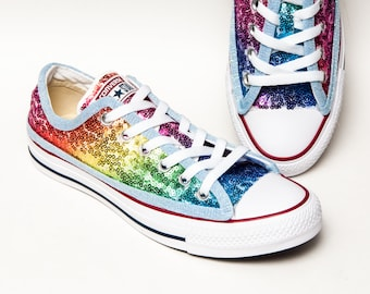 5dd27d42942ed9 Rainbow Sequin Converse® Low Tops
