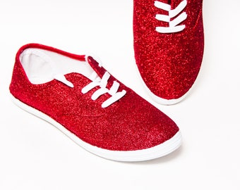 dbdabb97a94 Glitter - Bright Red CVO Canvas Shoe Sneakers Shoes