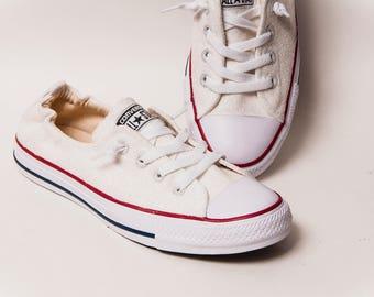 1c5b26b51753 Glitter - Bridal White Sparkly Canvas Shoreline Slip On Sneakers Shoes