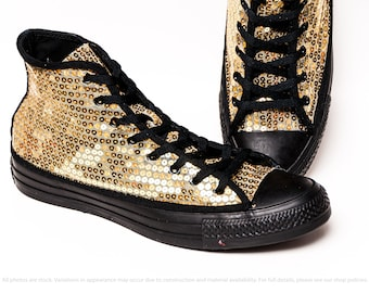 Sapphire Blue Starlight Sequin Converse® High Top Sneakers