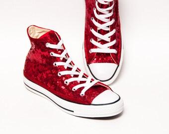 41cb3994e562 Red Starlight Sequin Converse® High Top Sneaker