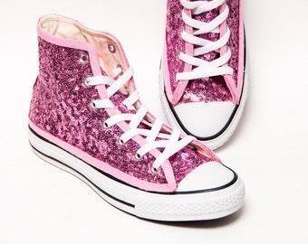 12cc02aeb9cb Blush Pink Starlight Sequin Converse® Hi Top Sneakers