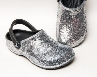 132d8333309e Tiny Sequin - Starlight Sterling Silver Cayman Slip On Crocs Clogs Classic  Casual Shoes