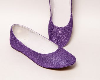 6c100ee2ce27 Lavender Purple Glitter Ballet Flats
