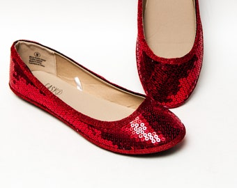 4921f69ce Red Sequin Ballet Flats